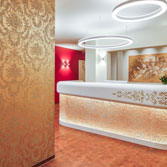 Acrylic Couture Fiocchi Gold Welcome Desk 2