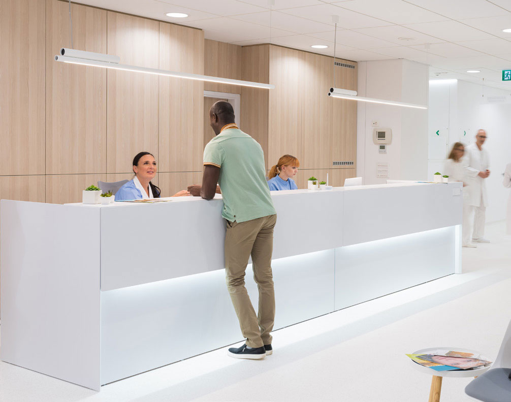 Hospital Reception Deco Anti-Bacterial Compact Laminates