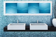 Artistic Metallic Laminate MET-D530 Blue Wall Art